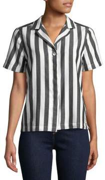 Calvin Klein Jeans Striped Cotton Button-Down Shirt