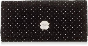 Jimmy Choo FIE Black Glitter Spotted Velvet Clutch Bag