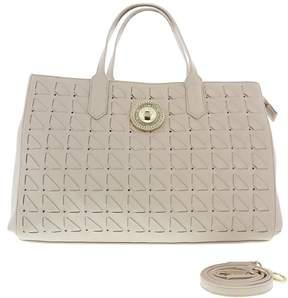 Versace EE1VRBBD8 Beige Tote Bag W/ detachable strap