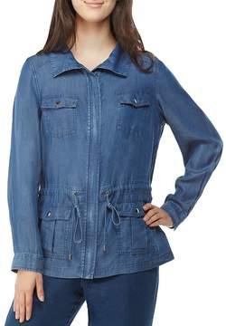 Allison Daley Zip Front Lyocell Denim Anorak Jacket