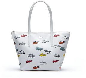 Lacoste Women's Concept Croc Print Small Zip Tote Bag