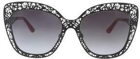 Dolce & Gabbana Dg2164 01/8g Black Cat Eye Sunglasses.