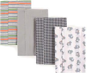 Luvable Friends Gray Dog Burp Cloth Set