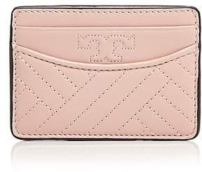 Tory Burch Alexa Slim Leather Card Case - DARK PINK QUARTZ/GOLD - STYLE