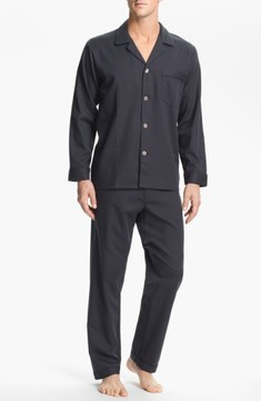 Majestic International Men's Herringbone Cotton Pajamas