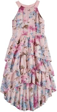 My Michelle Girls 7-16 My Tiered Ruffle High-Low Dress