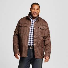 Merona Men's Big & Tall 4 Pocket Field Jacket Brown