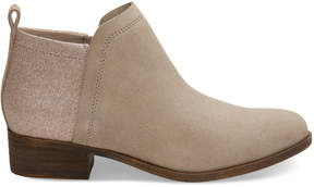 Toms Oxford Tan Suede and Glimmer Women's Deia Booties