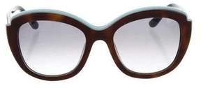 Salvatore Ferragamo Tortoiseshell Oversize Sunglasses