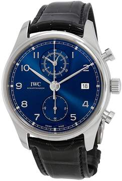 IWC Portugieser Chronograph Automatic Blue Dial Men's Watch