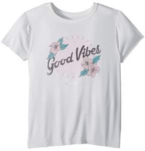 Spiritual Gangster Kids Flower Vibes Short Sleeve Tee Girl's T Shirt