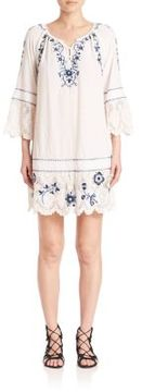 Calypso St. Barth Tamtam Embroidered Lace-Trim Dress
