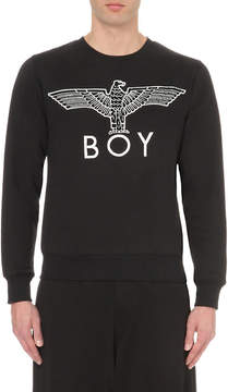 Boy London Eagle logo cotton-jersey sweatshirt