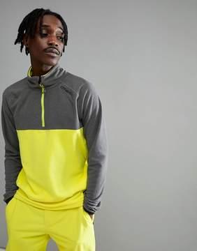 O'Neill Ventilator Half Zip Fleece Sweat in Yellow/Gray