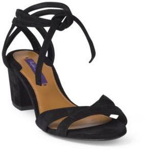 Ralph Lauren Parisa Suede Sandal Black 36.5