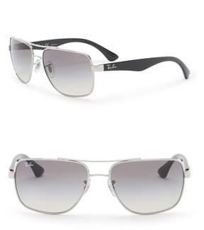 Ray-Ban 60mm Metal Square Sunglasses