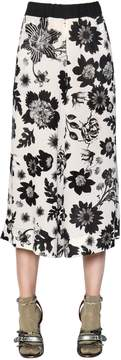 Antonio Marras Floral Printed Crepe Cropped Pants