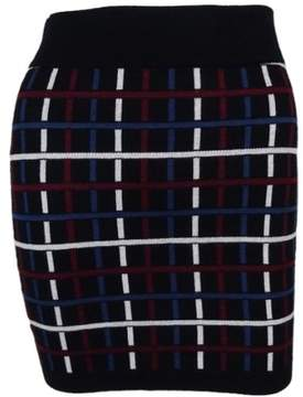 BCBGeneration Women's Plaid Knit Skirt (XXS, Black/Combo)