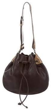 Tod's Python Trim Leather Shoulder Bag