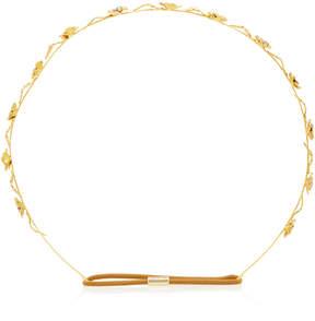Jennifer Behr Margaux Bandeaux Gold-Plated Headband