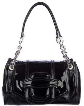 Oscar de la Renta Patent Leather Shoulder Bag