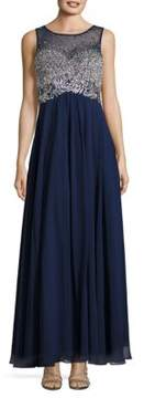 Decode 1.8 Embellished Flared Gown