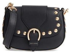 Marc Jacobs Small Studded Navigator Leather Saddle Bag - Black