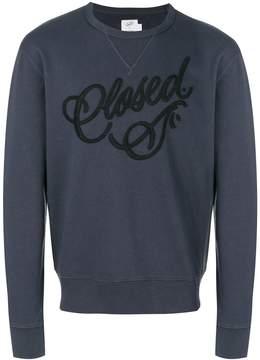 Closed logo embroidered sweatshirt