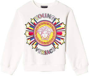 Versace White Star Medusa Crew Sweater