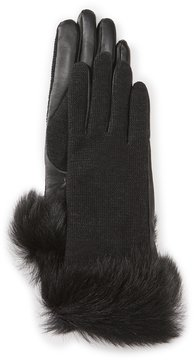 UGG Toscana Shearling-Cuff Tech Gloves with Faux-Fur Lining