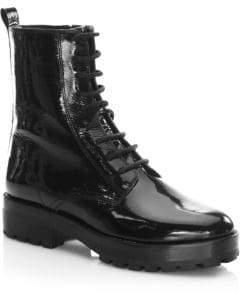 Michael Kors Gita Lace-Up Leather Boots