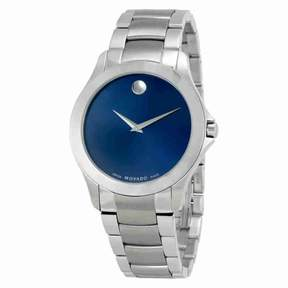 Movado Masino Blue Dial Stainless Steel Men's Watch 0607033