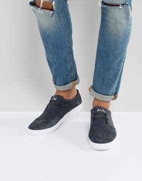 Fred Perry Shields Suede Sneakers in Charcoal