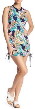 Tommy Bahama Paisley Sleeveless Rashguard Dress