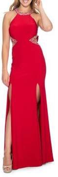 Decode 1.8 Double High-Slit Gown