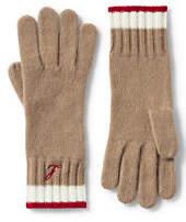 Lands' End Women's Cashmere Gloves-Rich Red
