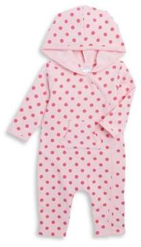 Absorba Baby's Polka Dot Terry Hooded Coverall