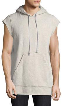 Hudson Cutoff-Sleeve Pullover Hoodie, Gray