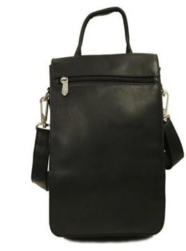Piel Leather DOUBLE FLAP-OVER SHOULDER BAG