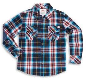 Appaman Toddler's, Little Boy's & Boy's Flannel Cotton Collared Shirt