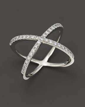 Bloomingdale's Diamond X Band in 14K White Gold, 0.40 ct. t.w.