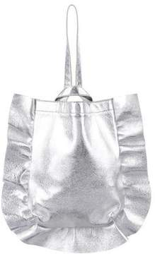 Loeffler Randall Ruffled Metallic Leather Tote