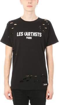 Les (Art)ists Les Artists Black Logo Cotton T-shirt