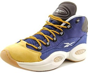Reebok Question Mid Round Toe Leather Basketball Shoe.