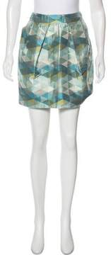 Matthew Williamson Geometric Silk-Blend Skirt