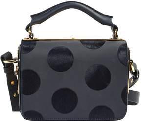 Sophie Hulme Navy Leather Handbag