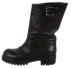 Marni Leather Mid-Calf Boots