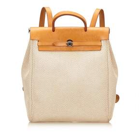 Hermes Herbag cloth backpack - ECRU - STYLE