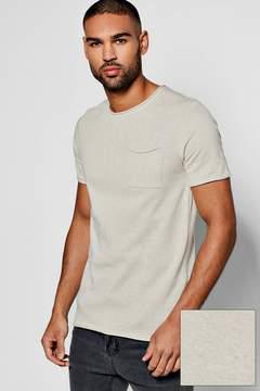 boohoo Short Sleeve Bagel Neck Knitted T Shirt