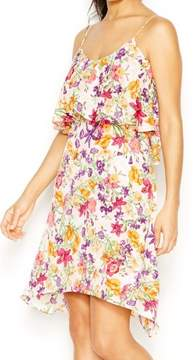 BCBGeneration Women's Floral Popover Spaghetti Dress